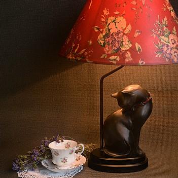 검은고양이 램프