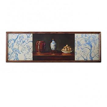 오크원목액자-와이드정물-블루
